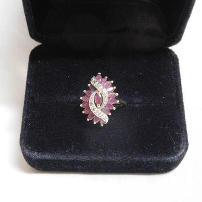 10 k Ruby and Diamond Ring