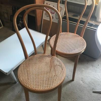 2 bentwood chairs $38 each