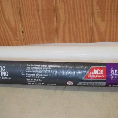 2 Rolls Ace Plastic Sheeting