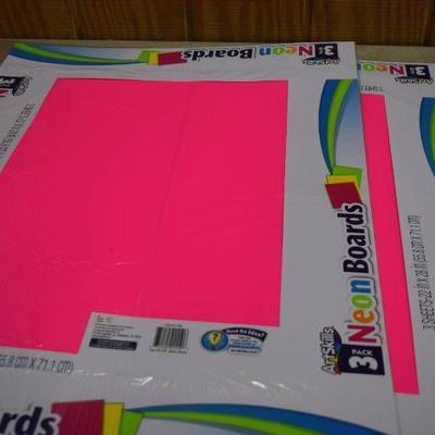 36 Sheets Art Skills Neon Board Poster Board