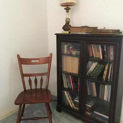 Antique bookcase 47 1/2 tall will add the width