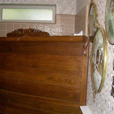 Oak headboard