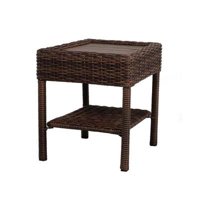 Hampton Bay Outdoor Square Side Table Steel  All- ...