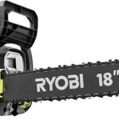 Ryobi 18 in. 37cc 2-Cycle Gas Chainsaw with Heavy ...