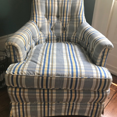 Upholstered arm chair $129