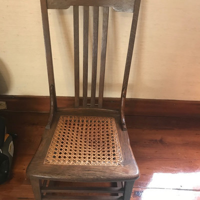 Caned rocking chair $65
