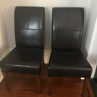 Leather chair $99 each 8 available 8 for $725