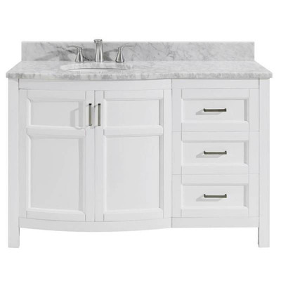 allen + roth Moravia 48-in White Single Sink Bathr ...