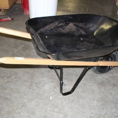 Blue Hawk 4-cu ft Steel Wheelbarrow