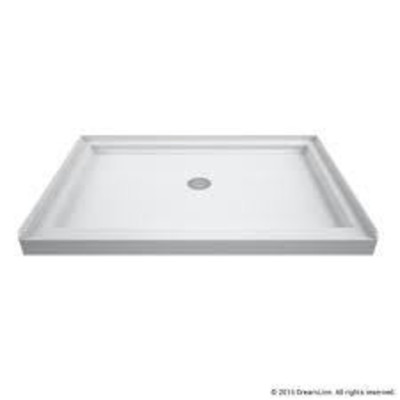 DreamLine SlimLine White Acrylic Shower Base 36-in ...