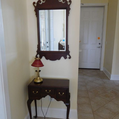 Entry Stand and Mirror