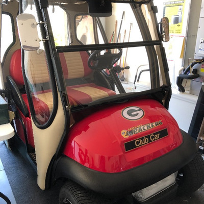 ** $2,950** - ​2006 Club Car Electric Golf Cart  1-year-Old batteries,  Curtis doors, High-speed update to the motor​
