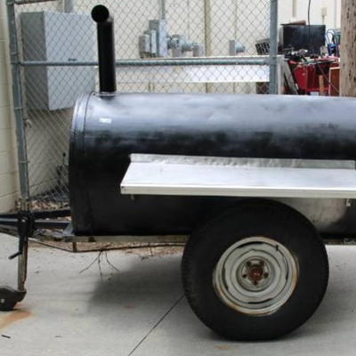 Grill Two Burner On Trailer.