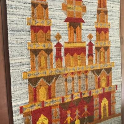 "Polish Tapestry Handspun Wool 3'10"" X 3'"