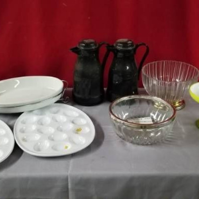 Coffee Carafe's, Egg Plate, Bowl …