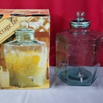 Glass Beverage Jar with Tap