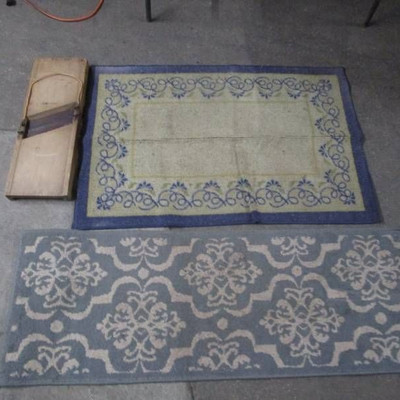 Cabbage Slicer and Two Throw Rugs