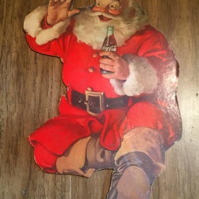 Vintage Santa Sign