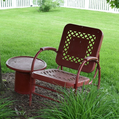 Outside Chair and Table