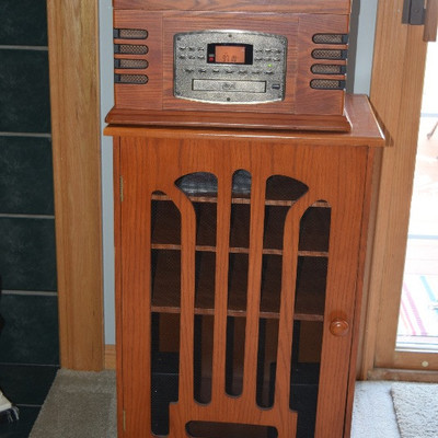 Old Radio and Cabinet