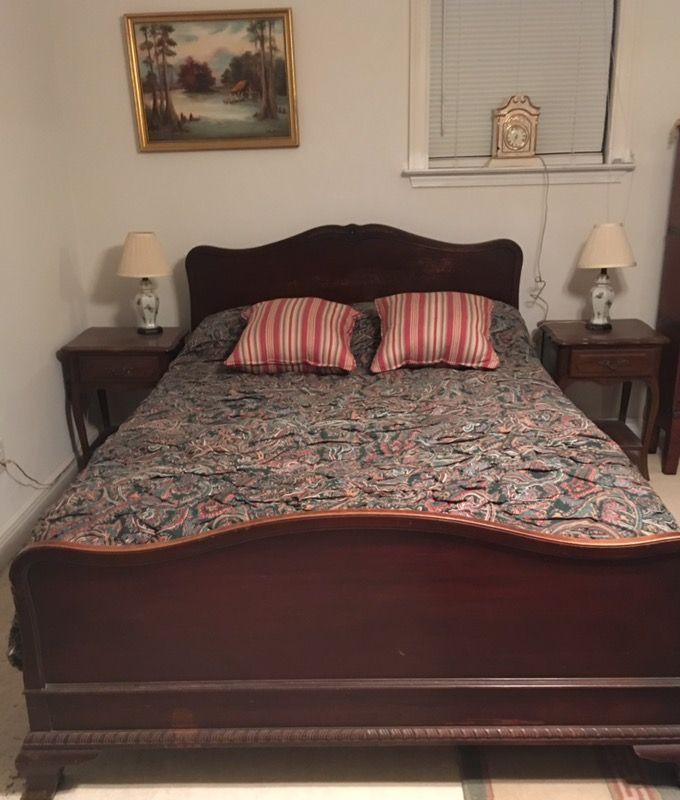 Antique Full Size Bed with Mattress SGA026 https://www.ebay.com/itm/113777153624