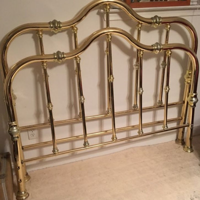 Brass Full Size Antique Bed Frame SGA007 with rails https://www.ebay.com/itm/113777134070