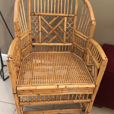 Bamboo barrel chair