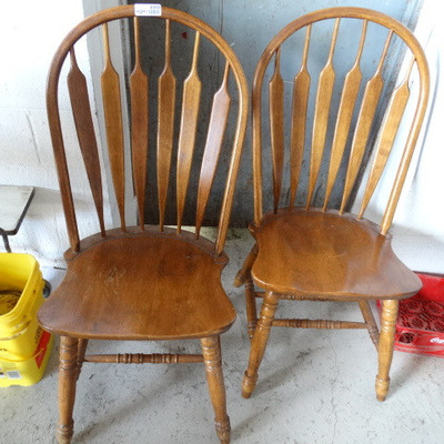 2 Dining chairs.