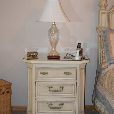 Night Stand and Table Lamp