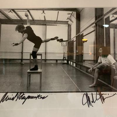 Annie Leibovitz photograph, signed by Baryshnikov and Morris