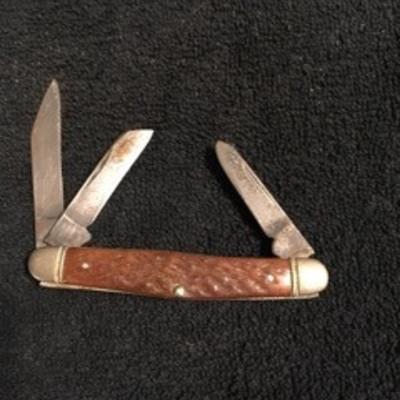 Double Ended Triple Blade Pocket Knife