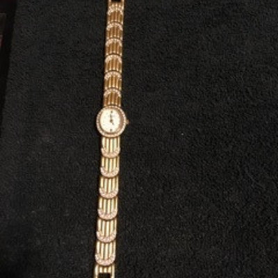 Gold tone Rhinestone accent Watch