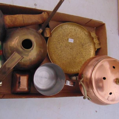 Brass and copper lot