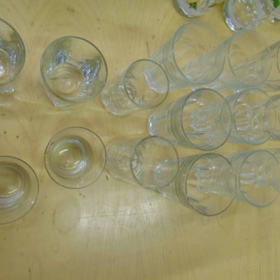 9 matching Glasses and rock Glasses, and tumblers