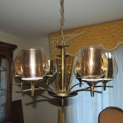 mid-century chandelier