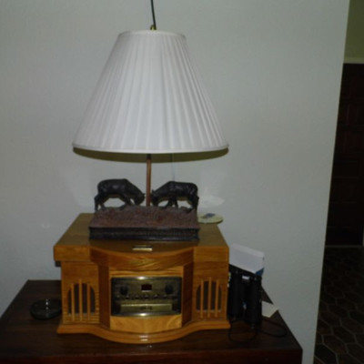 Radio is not for sale however, Lamp is available