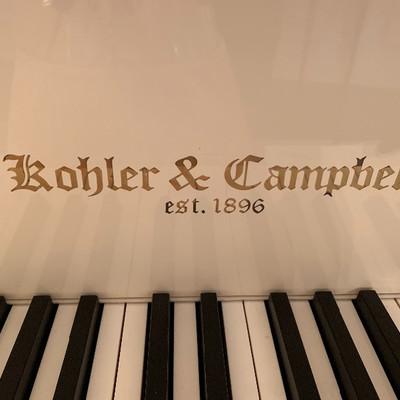 Kohler & Campbell white baby grand piano