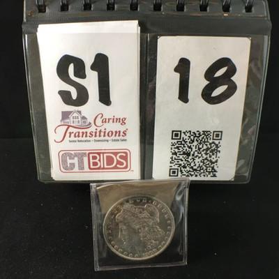1900 Silver dollar  E Pluriebus Unum USA  Pocket cover https://ctbids.com/#!/description/share/178477