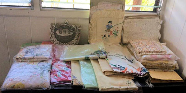 NNSS196 More Vintage Chinese Linens & Paper Cutouts