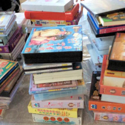NNS025 Asian Themed DVDs & VHS Movies
