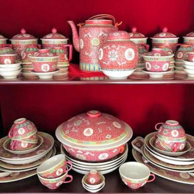 NNS108 Huge Chinese Porcelain Ware Set