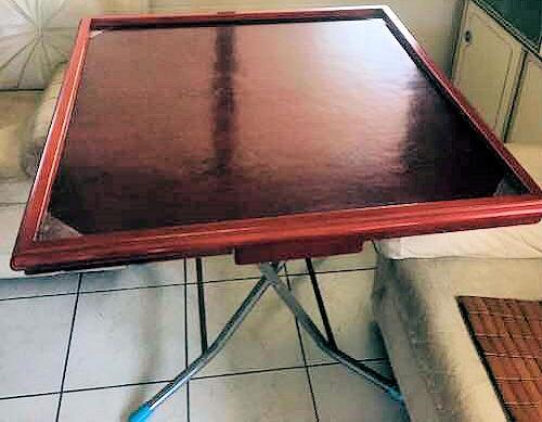 NNS022 Vintage Folding Poker Table