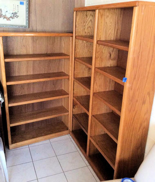 NNS017 Two Wooden Bookcases
