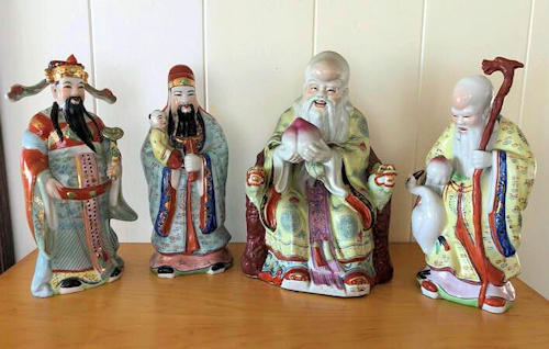 NNS103 Chinese Immortal Gods Porcelain Figurines