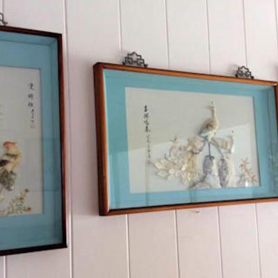 NNS101 Three Shell Art Pieces
