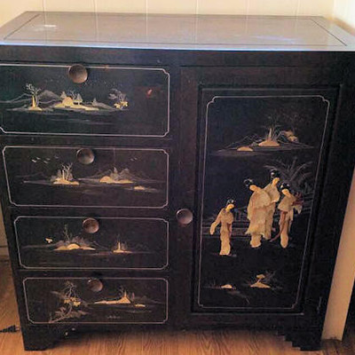NNS149 Chinese Wooden Chest of Drawers Cabinet