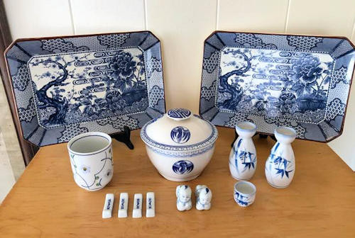 NNS131 Blue and White Tableware