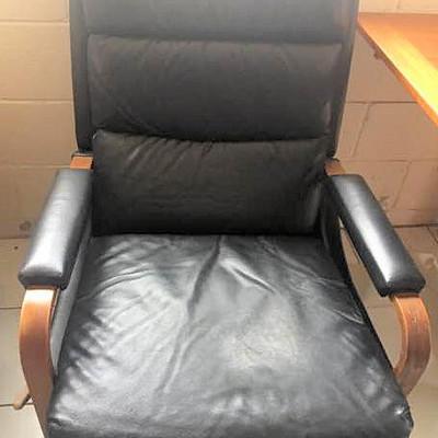 NNS023 Black Reclining Rocking Chair