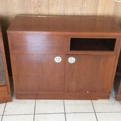 NNS024 Vintage Stereo Cabinet, & Detached, Matching Speakers