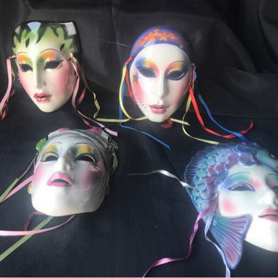 Vintage Ceramic Masks